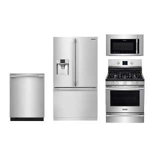 Frigidaire Professional Series Stainless Steel Gas Kitchen Appliance Package Frg Pro 24 Gas Kit507996