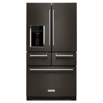 KRMF706EBS KitchenAid 25.8 cu. ft. French Door Refrigerator - 36 Inch Black Stainless Steel