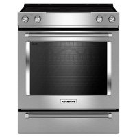 KSEG700ESS KitchenAid 30 Inch 6.4 cu. ft. Slide-In Electric Range with Self-Cleaning Convection Oven - Stainless Steel