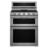 KFDD500ESS KitchenAid Double Oven Dual Fuel Range - 6.0 cu. ft. Stainless Steel