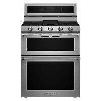 KFGD500ESS KitchenAid Double Oven Gas Range - 6.0 cu. ft. Stainless Steel