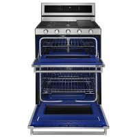 KitchenAid Double Oven Gas Range - 6.0 cu. ft. Stainless Steel