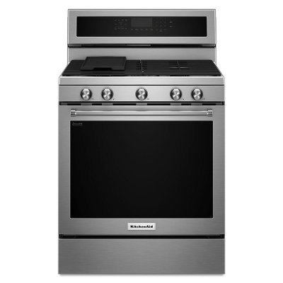 KFGG500ESS KitchenAid 5.8 cu. ft. Gas Range with Even-Heat™ True Convection - Stainless Steel