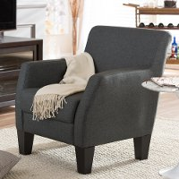 Dark Gray Club Chair - Silhouettes