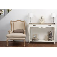 ACT9VO/M-B-CA Traditional White Console Table - Bourbonnais