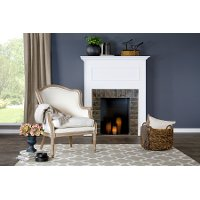 ASS292Mi-CG4 Classic White Accent Chair - Charlemagne
