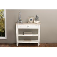 CHR10VMM-B-C Traditional French White Accent Table - Dauphine