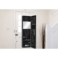GLD12211-Black Black Jewelry Armoire - Reflections