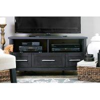 I-1504 Dark Brown 3-Drawer TV Stand