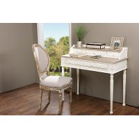 PLM1VM/M-B-CA Traditional French Accent Writing Desk - Anjou