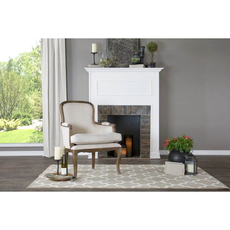 Traditional Beige Accent Chair - Napoleon