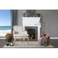 PLN22MI-CG4 Traditional Beige and Oak Accent Chair - Napoleon