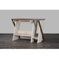SD-01-Oak Natural Modern Writing Desk - Rhombus