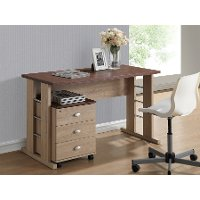 SD-02-SD-DW-Oak Natural Writing Desk and File Cabinet - Woodrow