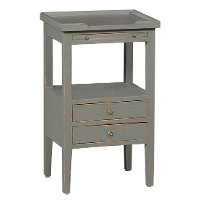 Slate Gray Distressed Accent Table - Aries