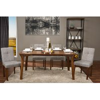 Linen Contemporary Dining Chair Pair - Elsa
