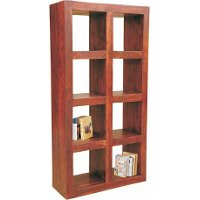 Open Sheesham 8-Shelf Bookcase