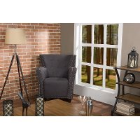 TSF-8112-Grey-AC Contemporary French Accent Chair - Action