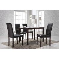 ANDREW-DINING-CHAIR Set of 4 Dark Brown Dining Chairs - Andrew