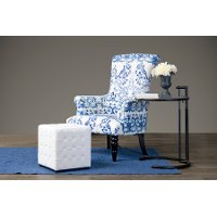 TSF-71010-CC Porcelain Flower & Bird Accent Arm Chair - Darlington