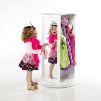 White Rotating Storage - Dress Up