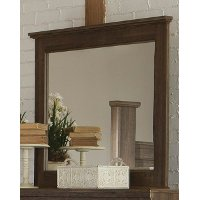 Rustic Modern Driftwood Brown Mirror - Fairfax