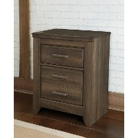 Rustic Modern Driftwood Brown Nightstand - Fairfax