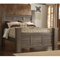 Rustic Modern Driftwood Brown King Size Bed - Fairfax