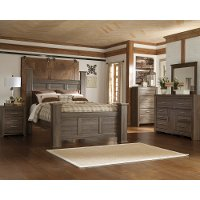 Rustic Modern Driftwood 4 Piece King Bedroom Set - Fairfax
