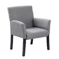 Contemporary Gray Guest Chair