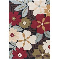 LGN4520 8x10 8 x 10 Large Green, Red, and Blue Area Rug - Laguna