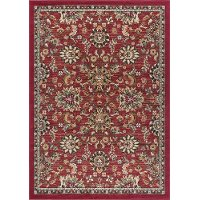 LGN4590 8x10 8 x 10 Large Classic Red Area Rug - Laguna