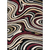 LGN46085x7 5 x 7 Medium Red and Beige Area Rug - Laguna