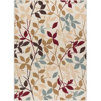 LGN4652 5x7 5 x 7 Medium Ivory & Blue Area Rug - Laguna
