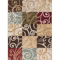 LGN4680 5x7 5 x 7 Medium Ivory, Blue, and Green Area Rug - Laguna