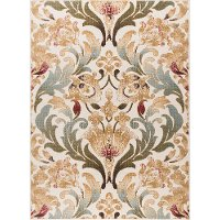 LGN4692 5x7 5 x 7 Medium Ivory, Blue & Green Area Rug - Laguna