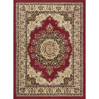 SNS4700 8x11 8 x 10 Large Red and Beige Area Rug - Sensation