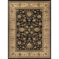 SNS4723 8x11 8 x 10 Large Black and Tan Area Rug - Sensation