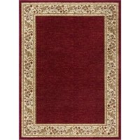 SNS47405x8 5 x 7 Medium Beige and Red Area Rug - Sensation