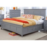 Graylyn Steel Gray King Storage Bed