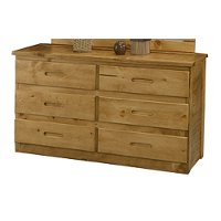 Casual Rustic Honey Pine Dresser - Phoenix
