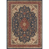SNS4787 8x11 8 x 11 Large Navy Blue and Red Area Rug - Sensation