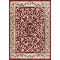 LGN50708x10 8 x 10 Large Ivory, Gold, and Red Area Rug - Laguna