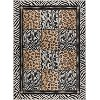 LGN5080 5x7 5 x 7 Medium Black & Bronze Animal Print Area Rug - Laguna