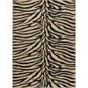 ELG5162 5x7 5 x 7 Medium Beige and Black Zebra Print Area Rug - Elegance