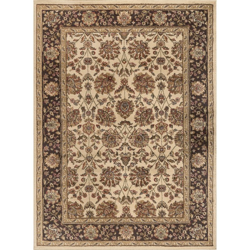 Elg5332 8x10 8 X 10 Large Ivory Brown And Gold Area Rug Elegance