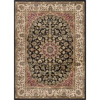 ELG5393 8x10 8 x 10 Large Black, Red, and Gold Area Rug - Elegance