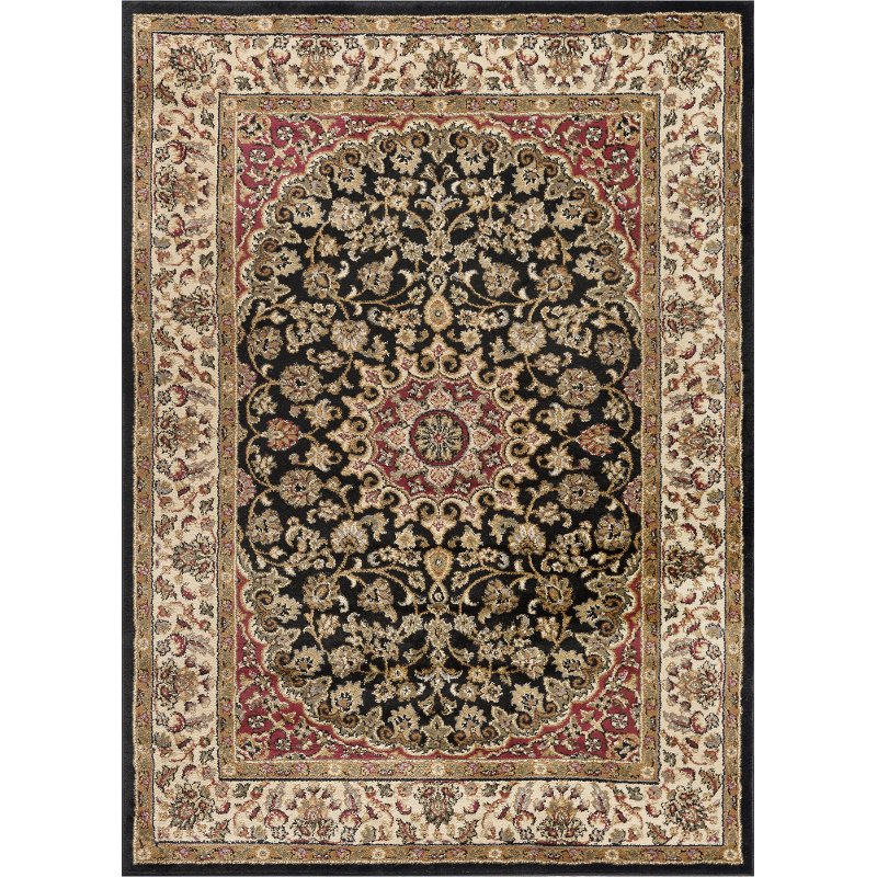 8 X 10 Large Black Red And Gold Area Rug Elegance Rc Willey