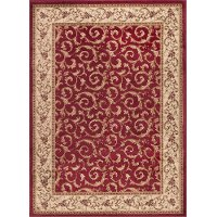 ELG5400 8x10 8 x 10 Large Ivory, Gold, and Red Area Rug - Elegance