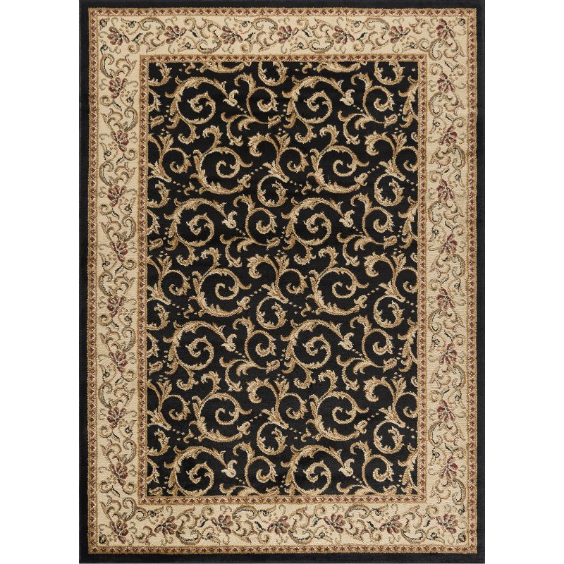 8 X 10 Large Ivory Gold And Black Area Rug Elegance Rc Willey